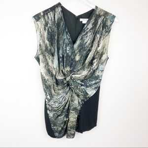 Helmut Lang | Abstract Print Blouse